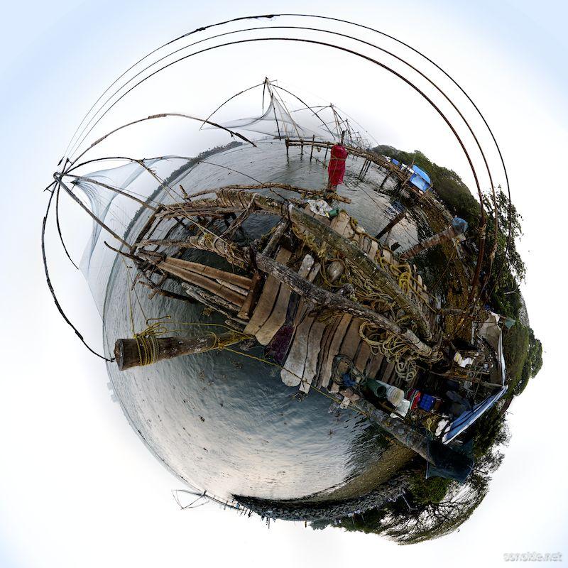 chinese fishing net panorama
