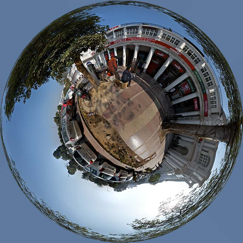 connaught place polar panorama