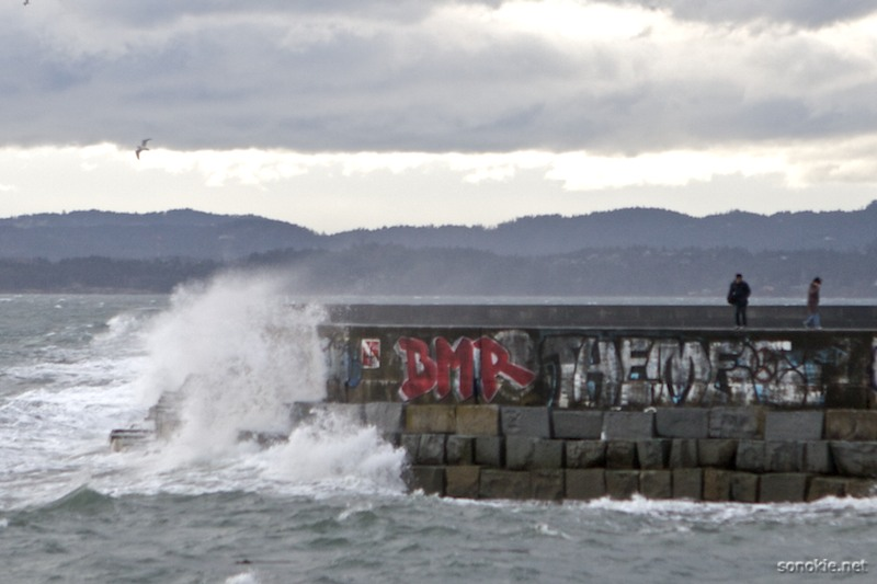 breakwater waves