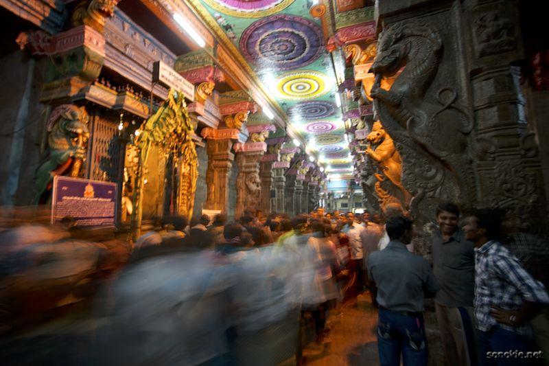 crowds at meenakshi